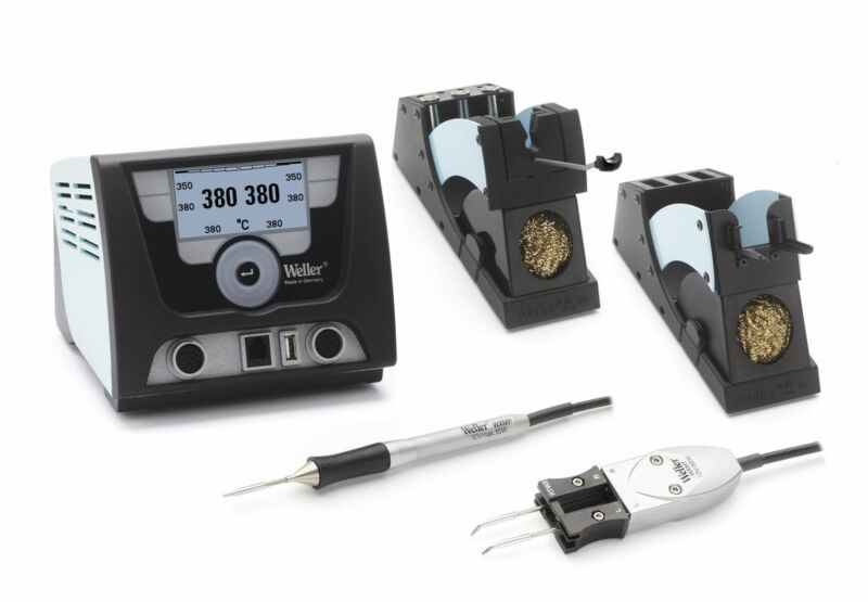 Weller WX2021N - Two Channel Soldering Station with WXMPMS Iron and WXMTMS Tweez