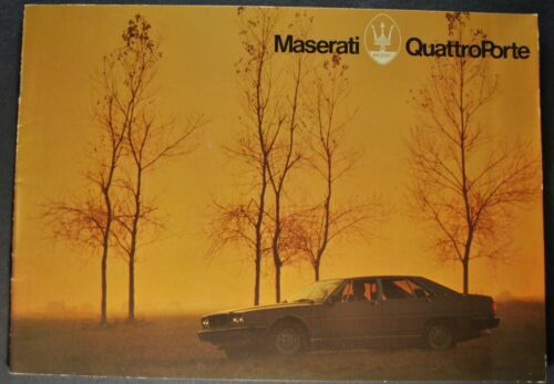 1979-1980 Maserati QuattroPorte Sedan Catalog Sales Brochure Excellent Original