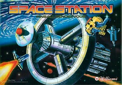 Williams Space Station Pinball Machine Translite
