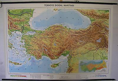 Schulwandkarte Rollkarte Wandkarte Türkei Turkey Türkiye Karte map 138x97cm TR