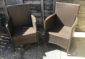 Rattan Hassan Outdoor Dining Chairs (Set of 2)