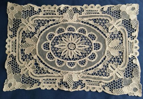 Vintage Chinese needle lace centerpiece