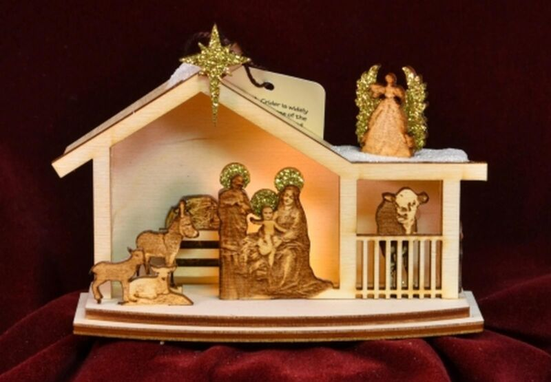 Ginger Cottages Nativity  Ornament GC122