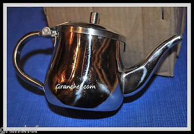 Teapot Stainless Steel 10 Oz. Goose-neck Style Server New In Box