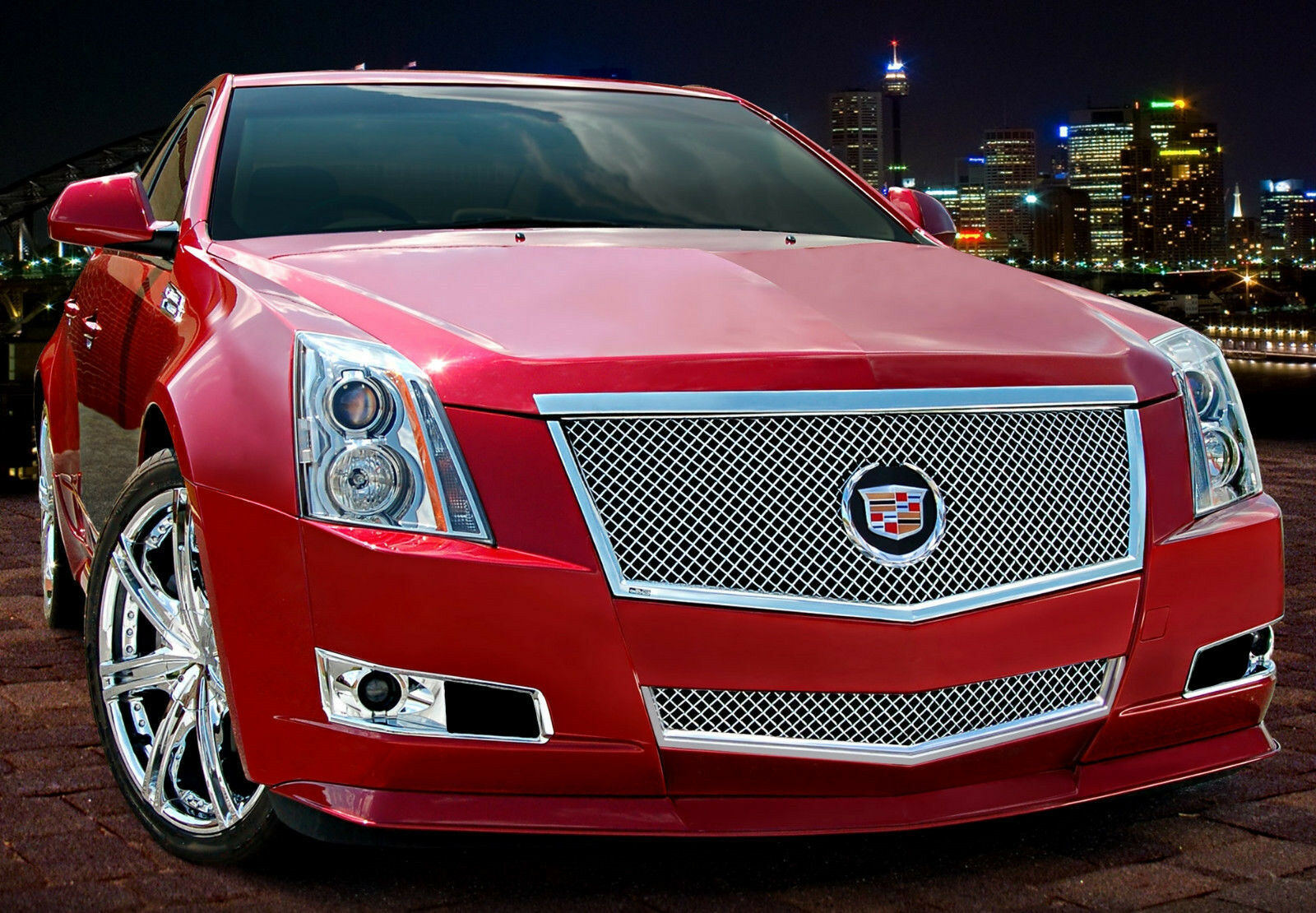 Cts V Wagon For Sale >> 2PC HEAVY MESH GRILLE GRILL E&G FITS 2008 2009 2010 2011 2012 2013 CADILLAC CTS   eBay