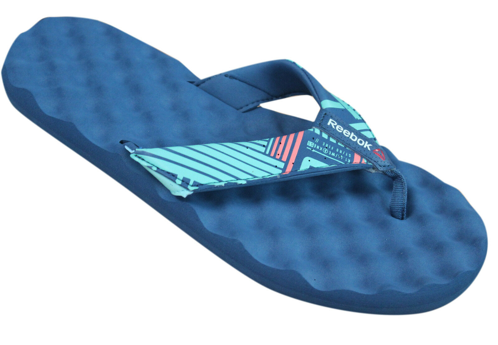 Reebok Nanossage Adventure Blue Synthetic Womens Flip Flops M47904 M10
