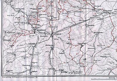 Pfalz Winnweiler Standenbühl 1929 orig. Teil-Karte Schweisweiler Sippersfeld