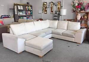DELIVERY TODAY BEAUTIFUL U shape COMFORTABLE corner sofa &OTTOMAN Belmont Belmont Area Preview