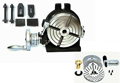 Precision Quality 6 Rotary Table With Indexing Plate Set M8 Clamping Kit