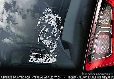 Michael Dunlop - Car Window Sticker - Isle of Man TT Moto GP Motorbike Sign TYP1