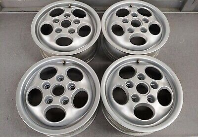 NICE SET OF 4 ORIGINAL GENUINE PORSCHE 924S PHONE DIAL WHEELS 6JX15 ET52.3 NLA