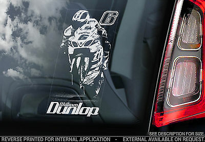 William Dunlop - Car Window Sticker - Suzuki Motorcycle Motorbike Superbike Sign
