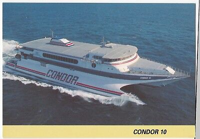Jersey, Guernsey, Weymouth Ferry, 'Condor 10' PPC c 1990's Unposted image