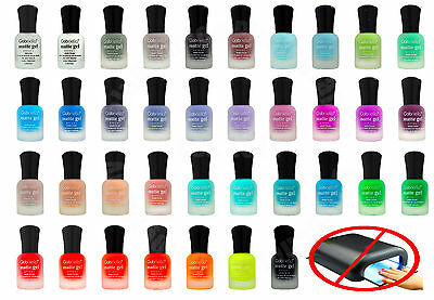 Matte Gel Nail Polish Long Lasting Quick Drying DIY Polish No UV Light Needed