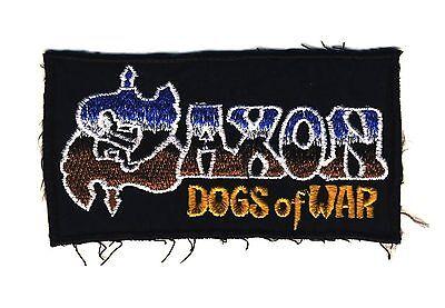 SAXON - Dogs Of War - Logo - Aufnäher / Patch - gestickt - Neu