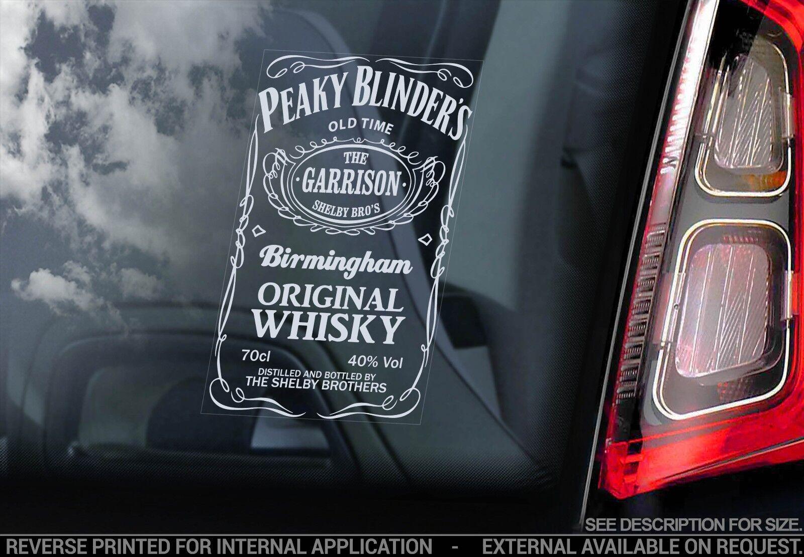 Jack Daniels Whiskey Label Schild Peaky Blinders Auto Fenster Aufkleber
