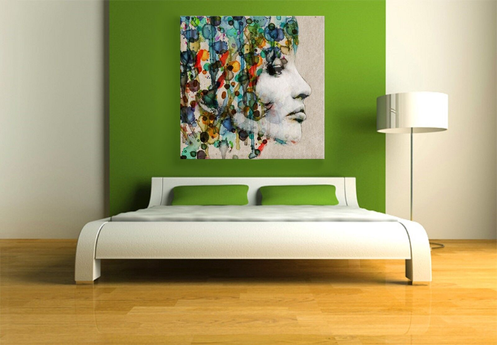 xxl bild 95x95x5 gem lde frau abstrakt natur leinwand canvas ikea modern art eur 74 99. Black Bedroom Furniture Sets. Home Design Ideas