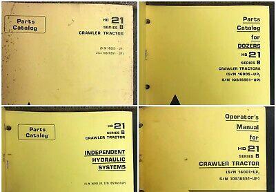 Original Allis Chalmers Hd21 Series B Crawler Tractor Operators Manuals