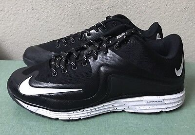 8e583fbbe3 Nike Lunar MVP Pregame 2 Turf Black White Baseball Trainers Mens Sz 13  NEW!!!
