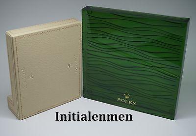 ROLEX display dealer DEALERDISPLAY set leather TRAY + WAVES 100% authentic wave