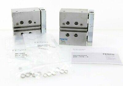 Lot Of 2 Festo Guide Cylinder Dfm-20-25-p-a-gf Dfm2025pagf W Zbh-7 Zbh-9