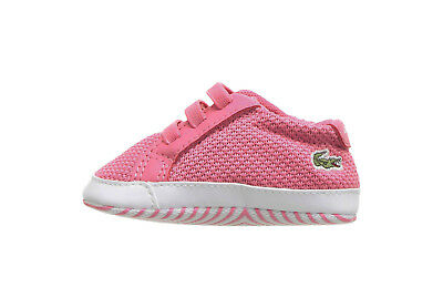Lacoste Crib 318 Baby Shoes 7-36CAB0001F50 - Pink/White Lacoste Infant Shoes