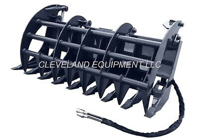 New 72 Cid X-treme Duty Grapple Rake Attachment For Skid Steer Track Loaders
