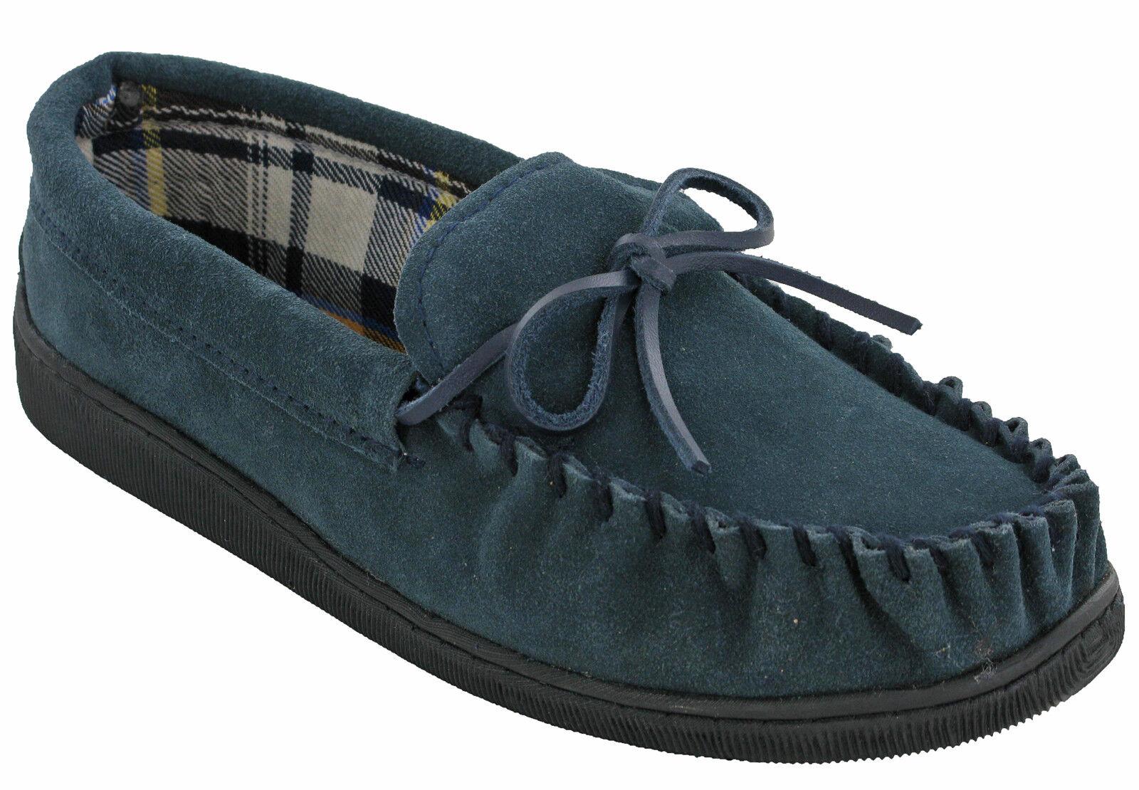 289e67f4cf755 Foderato in pelle mens mocassino Pantofole Soft cuscino passeggiata  invernale al coperto all aperto