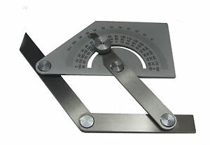 RDGTOOLS NEW SQUARE BEVAL PROTRACTOR STAINLESS STEEL MEASURING ENGINEERING TOOLS
