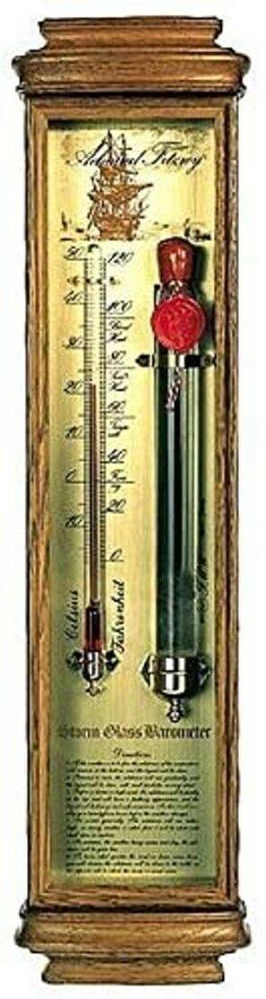 TOP SturmglasBarometer nach alten Vorlagen Made Germany Holz