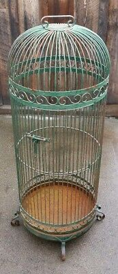 "Large Round Bird Cage 24"" x 66"" Made in Mexico 82 pounds Local Pickup Only"