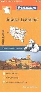 Alsace, Lorraine Map - MICHELIN 516 - NEW - METZ - STRASBOURG