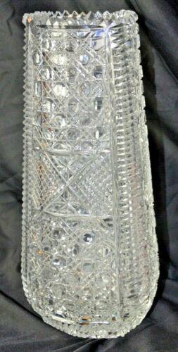 "Rare Antique 12"" tall American Brilliant Crystal vase."