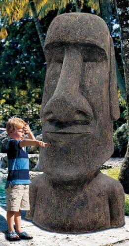 """72"""" Huge Easter Island Moai Monolith Garden Polynesian Pacific Sculpture"""
