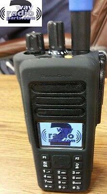 Motorola Mototrbo Xpr7550 Black Silicone Rubber Protective Case Uhf Vhf