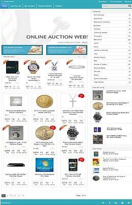 Online Auction Website Business For Sale Mobile Responsive Design