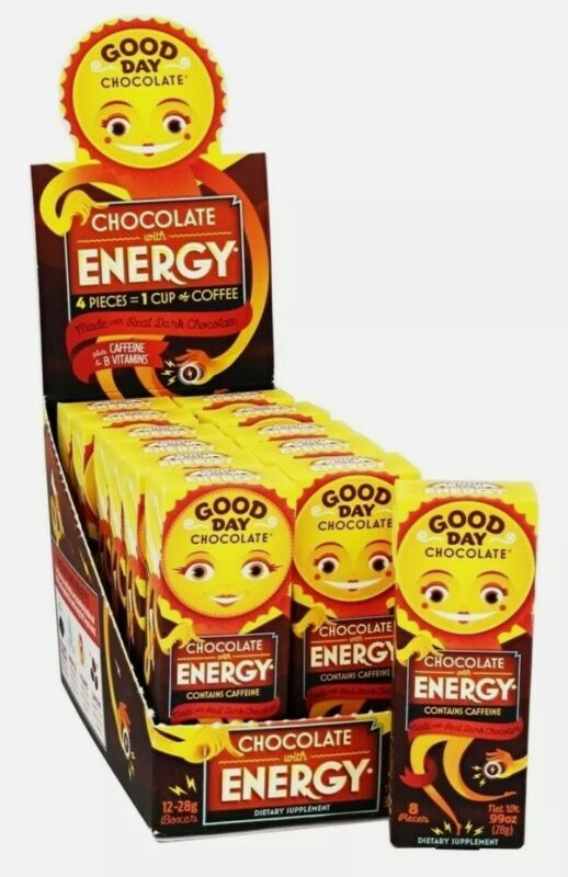Good Day Chocolate - Chocolate with Energy - 12 Box(s)