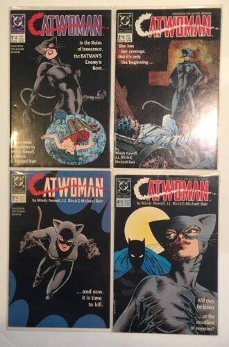 "1989 DC Comics, "" Catwoman "" # 1 to # 4, mini-series lot of 4, NM, BX44."