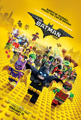 THE LEGO BATMAN MOVIE POSTER 2 Sided ORIGINAL FINAL RATED 27x40 WILL ARNETT