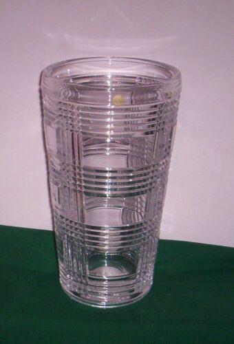 "RALPH LAUREN crystal GLEN PLAID Vase -  NIB 10"""