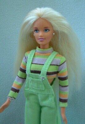 Vintage 90s Barbie EXTREME GREEN TEEN SKIPPER - original clothes & shoes