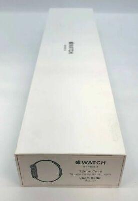 NEW! Apple Watch 3 (GPS, 38mm) Space Gray Aluminium Case Sport Band (MTF02LL/A)