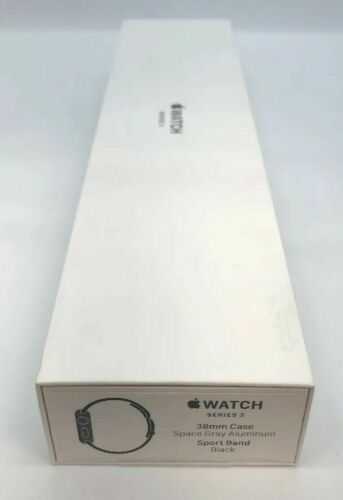 NEW! Apple Watch 3 (GPS, 38mm) Space Gray Aluminium Case Sport Band (MTF02LL/A)