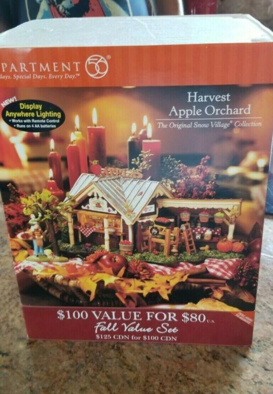 Dept 56 Snow Village Harvest Apple Orchard NEW!