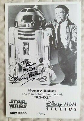 STAR WARS   R2D2  Kenny Baker signed promotional photograph
