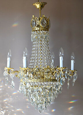 EMPIRE Outmoded French Vintage LUXURY Crystal Chandelier Lamp Home Fine Lighting