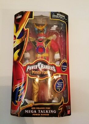 (Power Rangers Mystic Force Red Dragon Fire Mega Talking Red Ranger in Package)