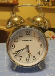 Crosley  Classic Twin Bell Vintage Metal Alarm Clock / Non Ticking