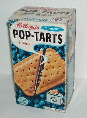 1965 Kelloggs Blueberry POP-TARTS box - kids food