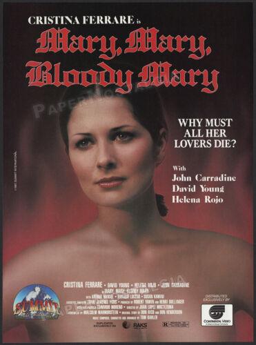 MARY, MARY, BLOODY MARY__Original 1987 Print AD / ADVERT__Cristina Ferrare__1975